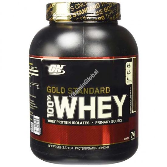 Gold Standard - 100% Whey Protein Double Rich Chocםlate 2.270g - Optimum Nutrition
