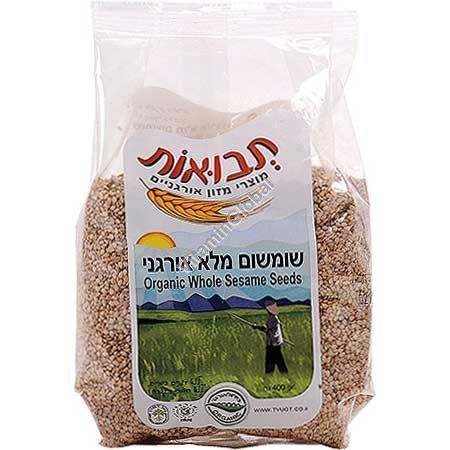 Organic Whole Sesame Seeds 400g - Tvuot
