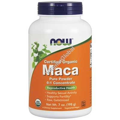 Organic Pure Maca Powder 198g - Now Foods