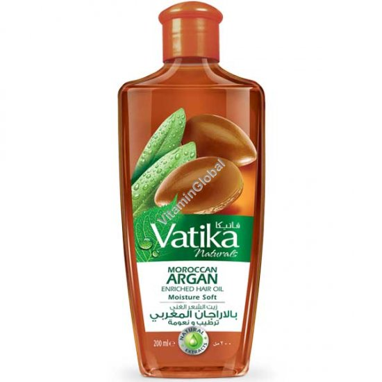 Moroccan Argan Enriched Hair Oil Moisture Soft 200ml - Vatika