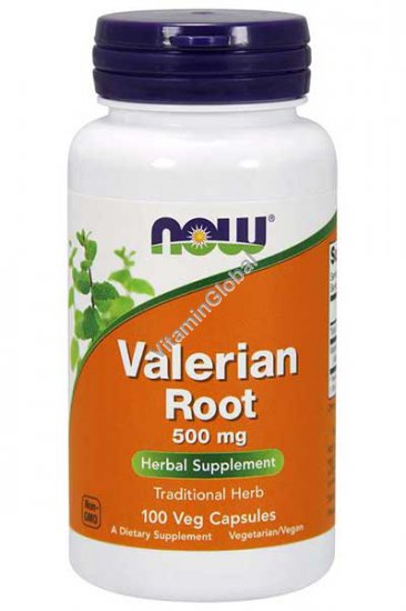 Valerian Root 500 mg 100 Veg Capsules - NOW Foods