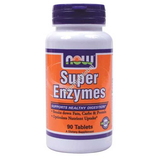 Super Enzymes 90 tablets - NOW Foods