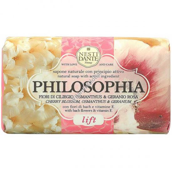 Philosophia, Lift, Bach Flowers & Vitamin E Natural Soap Bar 250g - Nesti Dante