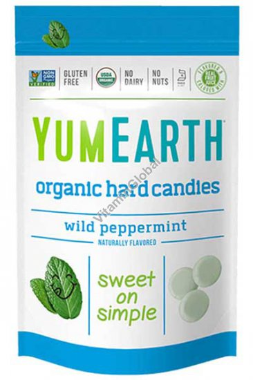 Organic Wild Peppermint Hard Candies (3.3 oz) 93.6g - YumEarth