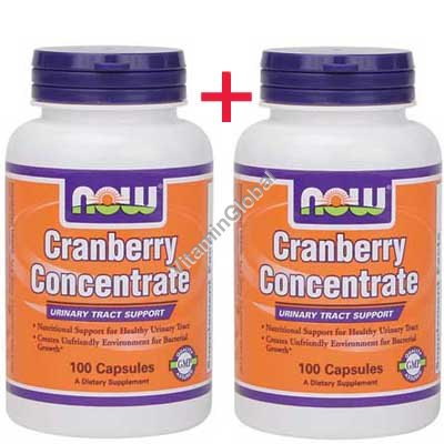 Cranberry Concentrate 200 (100+100) caps - NOW Foods
