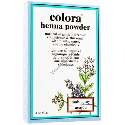 Henna Powder Mahogany 60g (2 oz.) - Colora