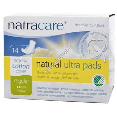 Organic Cotton Regular Ultra Pads 14 pcs - Natracare