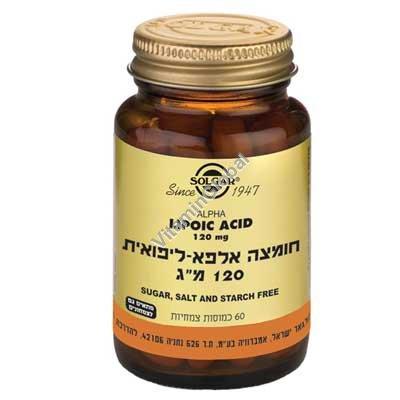 Alpha Lipoic Acid 120 mg 60 caps - Solgar