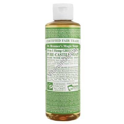 Green Tea Pure Castile Liquid Soap 472ml (16 fl oz) - Dr. Bronner