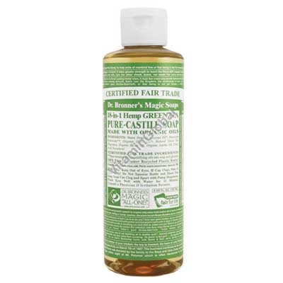Green Tea Pure Castile Liquid Soap 472ml (16 fl oz) - Dr. Bronner