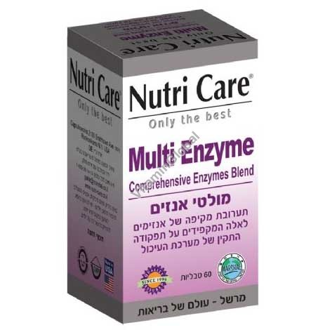 Multi Enzyme 60 tablets - Nutri Care