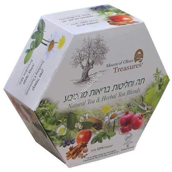 Assortment of Six Herbal Tea Blends 48 tea bags - Adanim