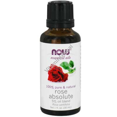 Rose Absolute 5% Oil Bland 30 ml - Now Essential Oils