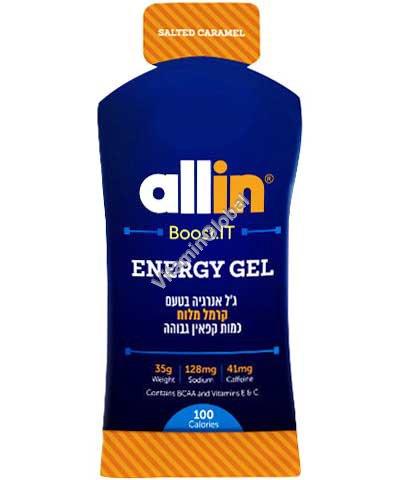 Energy Gel Salted Caramel (41mg Caffeine) 35g - Allin