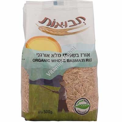 Organic Whole Basmati Rice 500g - Tvuot