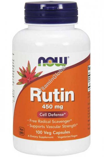 Rutin 450 mg 100 Veg Capsules - NOW Foods