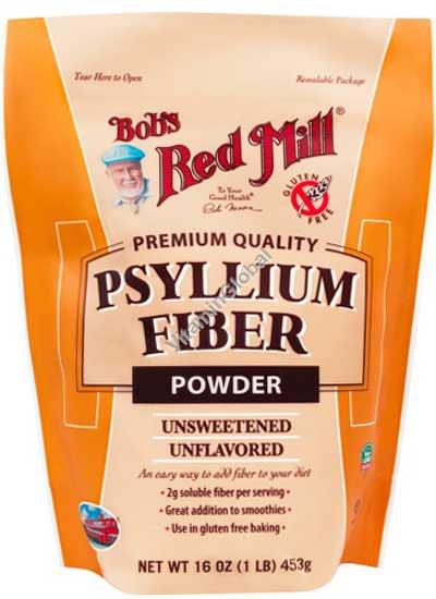 Psyllium Fiber, Psyllium Husk Powder 453g (1 LB) - Bob\'s Red Mill