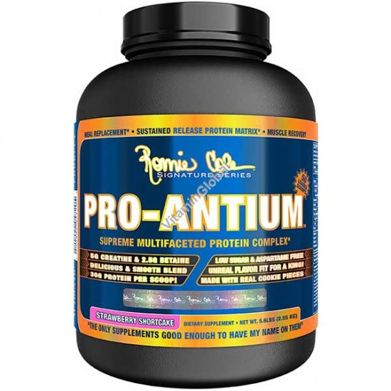 Pro-Antium Protein Complex Strawberry Shortcake 2.55kg (5.6 LBS) - Ronnie Coleman