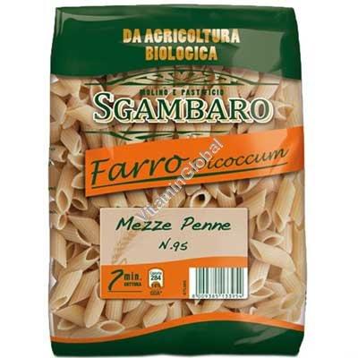 Whole Organic Spelt Penne 500g - Sgambaro