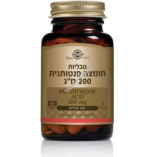 Pantothenic Acid (B-5) 200 mg 100 tablets - Solgar