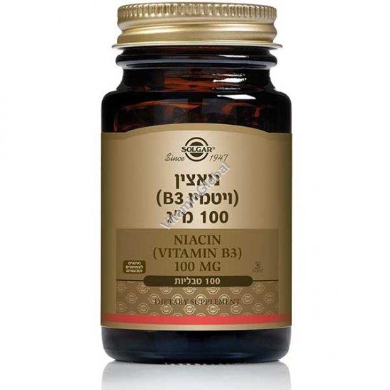 Niacin B3 100 mg 100 tablets - Solgar
