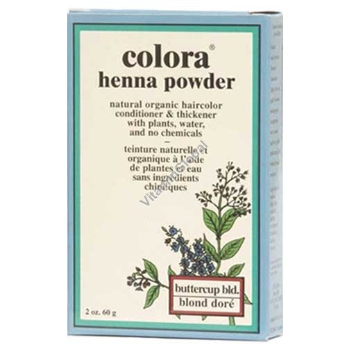 Henna Powder Buttercup Blonde 60g (2 oz.) - Colora