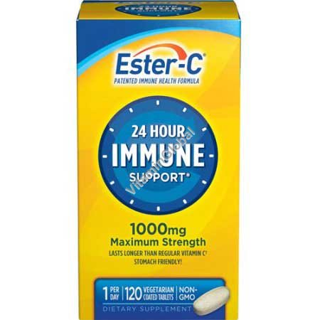 Ester-C 24 Hour Immune Support 1000 mg 120 coated tablets - NatureSmart