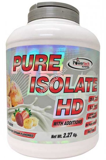 Kosher Pure Isolate HD Protein Strawberry-Banana Ice Cream 2.27kg (5 LB.) - PowerTech Nutrition