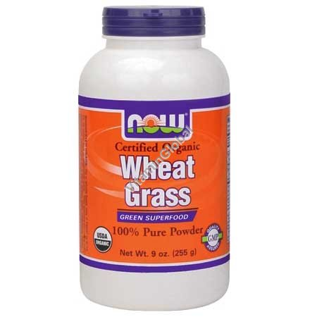 Organic Wheat Grass Powder 255g - Now Foods