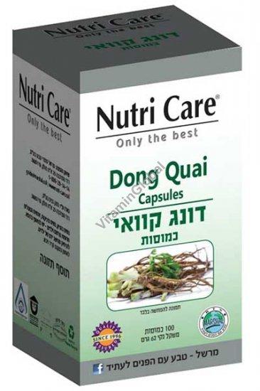 Kosher Badatz Dong Quai 100 Veg Capsules - Nutri Care