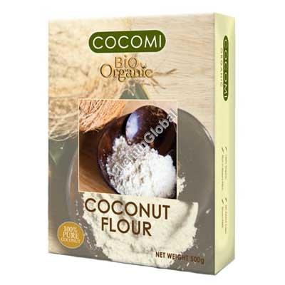 Organic Pure Coconut Flour 500g - Cocomi