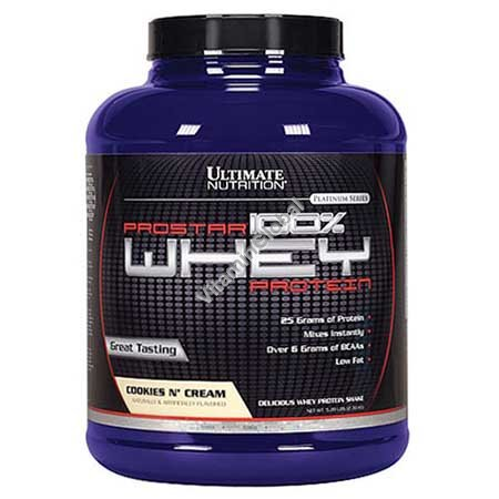 Prostar Whey Protein Cookies N\' Cream 2.39kg (5.28 LBS) - Ultimate Nutrition