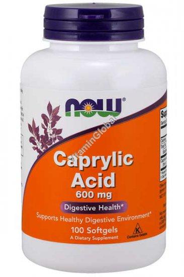 Caprylic Acid 600 mg 100 Softgels - Now Foods