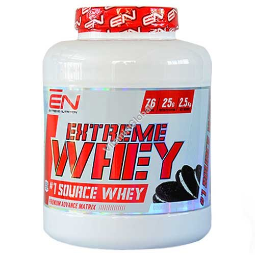 Kosher Extreme Whey Protein Cookies & Cream Flavor 2.50 kg - Extreme Nutrition