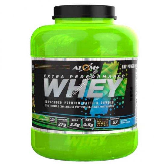 Super Premium Whey Protein Powder 57 individual servings in 3 flavors (Chocolate Fugge, Ice Coffee, Vanilla) - Atom+