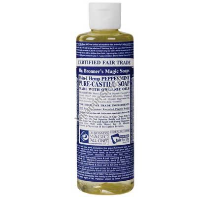 Peppermint Liquid Soap 472ml (16 oz.) - Dr. Bronner