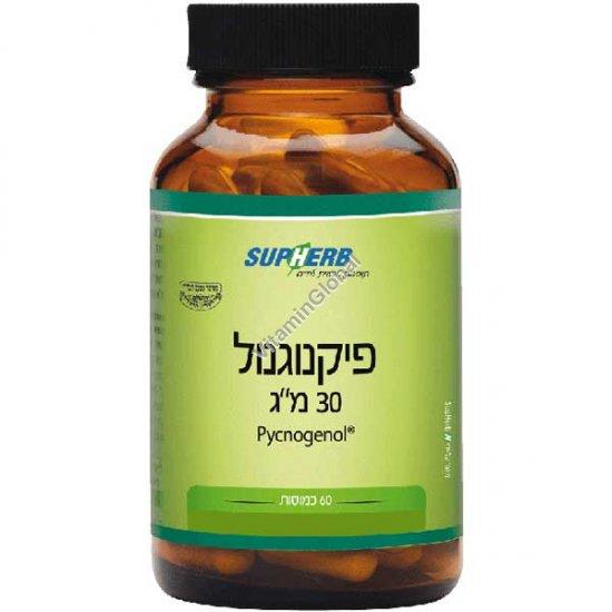 Kosher Badatz Pycnogenol 30 mg 60 capsules - SupHerb