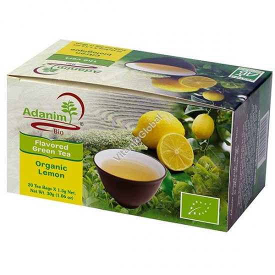 Organic Green Tea with Verbena & Lemonrass 20 Tea Bags - Adanim