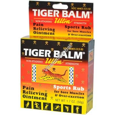 Tiger Balm Ultra Strength Pain Relieving Ointment 50g - Tiger Balm