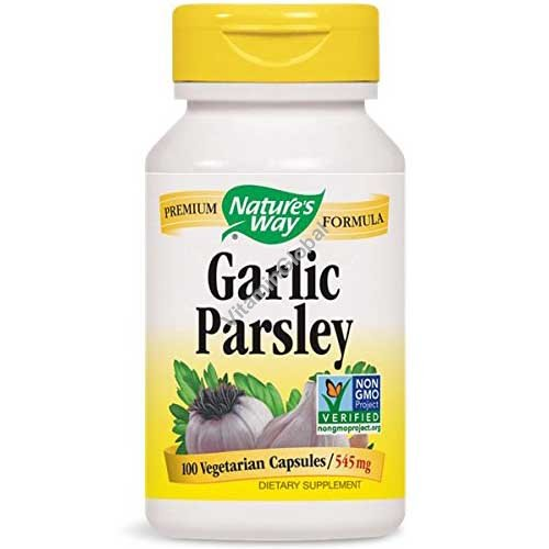 Garlic Parsley 545mg 100 Vegetarian Capsules - Nature\'s Way