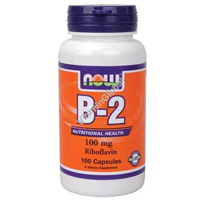 Vitamin B-2 100 mg Riboflavin 100 caps - NOW Foods