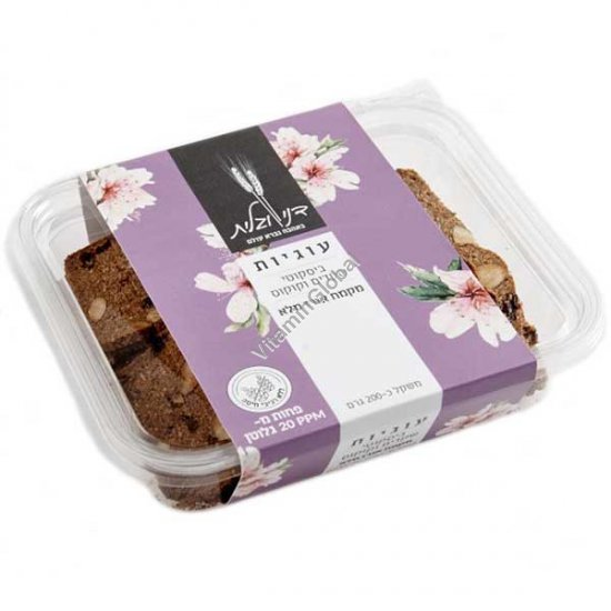 Almonds & Coconut and Whole Rice Flour Biscotti Cookies 200g - Dani & Galit