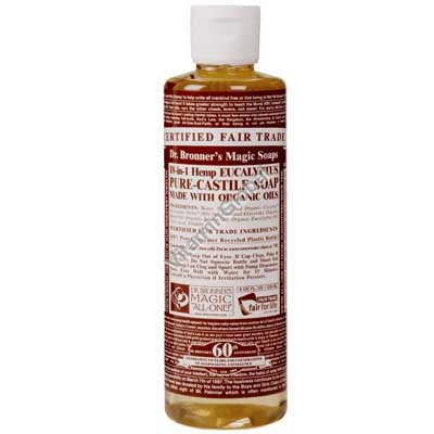 Hemp Eucalyptus Pure Castile Liquid Soap 472ml (16 oz.) - Dr. Bronner