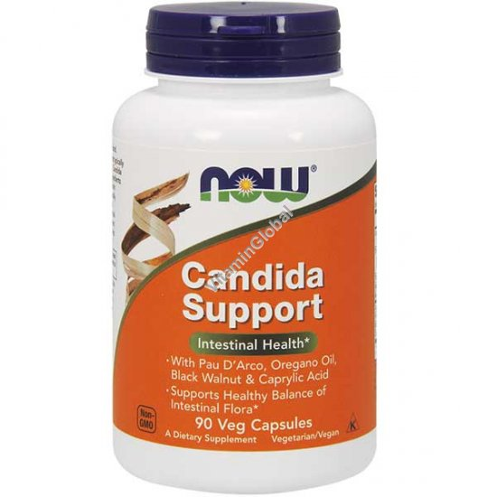 Candida Support 90 Veg Capsules - Now Foods