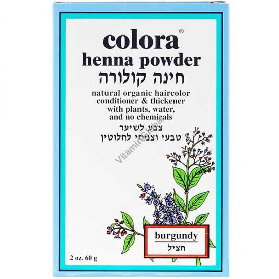 Henna Powder Burgundy 60g (2 oz.) - Colora