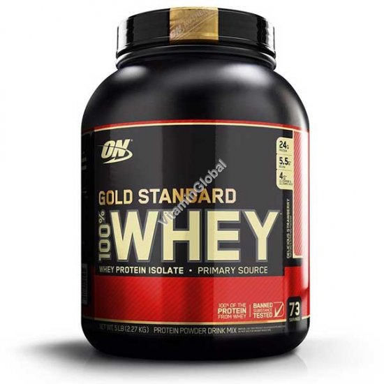 Gold Standard - 100% Whey Protein Delicious Strawberry 2.27kg - Optimum Nutrition