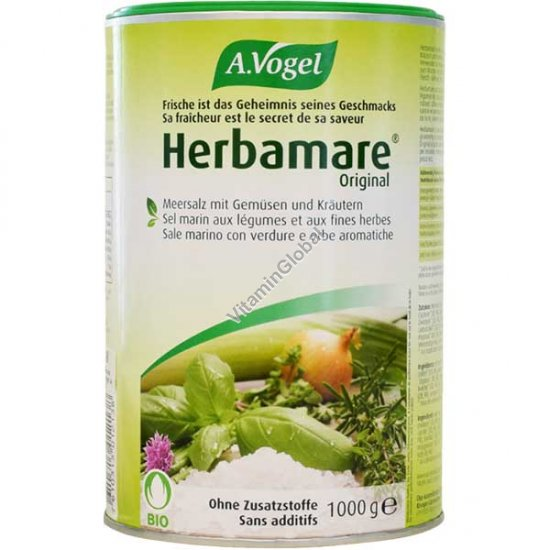 Herbamare Organic Herb Seasoning Salt 1000g - A.Vogel