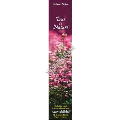 Saffron Spice Natural Incense Sticks 10g - Auroshikha