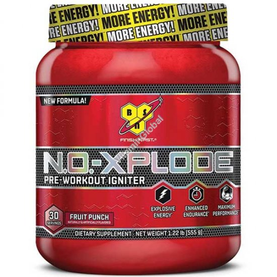 N.O.-Xplode Pre-Workout Igniter Fruit Punch 555g (1.22 LB) - BSN