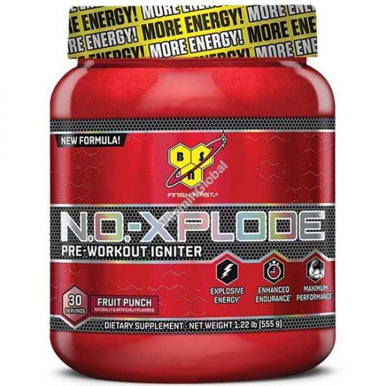 N.O.-Xplode Pre-Workout Igniter Fruit Punch 555g (1.22 LB) - BSN